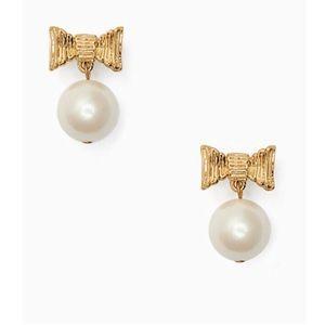 Kate Spade Pearl Drop Bow Earrings
